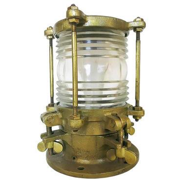 Bronze Piling Nautical Dock Light with Fresnel Lens by HarveysonBeverly