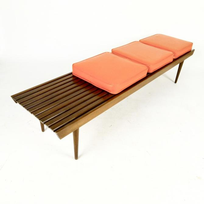 Slat Bench With Cushions