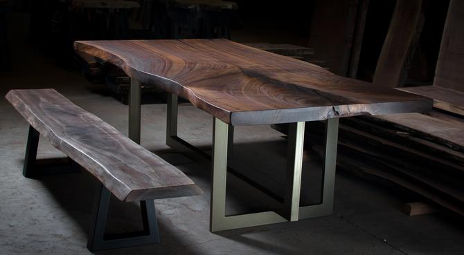 Walnut Dining Table Set by KirkpatrickDesigns