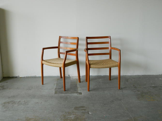 Pair of Danish Teak Occasional Chairs by Moller
