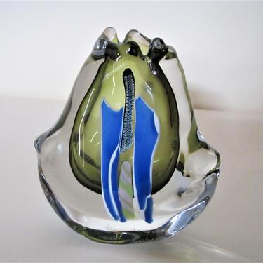 "Vernon Brejcha Art glass ""Fluid Form"" by ArtloversFinds"