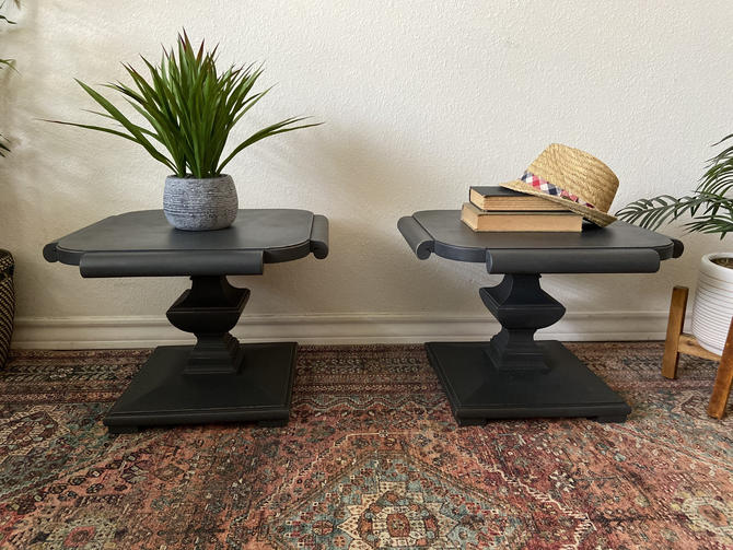 Vintage Set Mid Century Low Profile End Tables Side Tables by Thomasville *Local Pick Up Only by BluePoppyFurniture