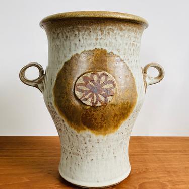 Wishon-Harrell studio pottery vase / large mid-century vase or urn / 1970s California ceramics by EarthshipVintage