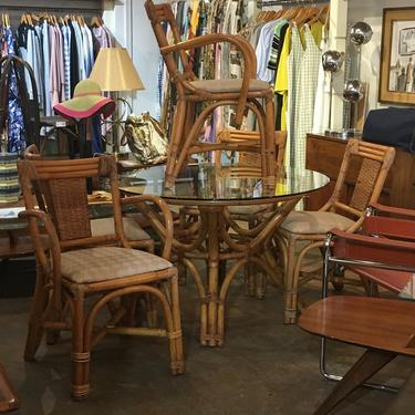 Mid Century Bamboo Dining Set by bcdrygoods