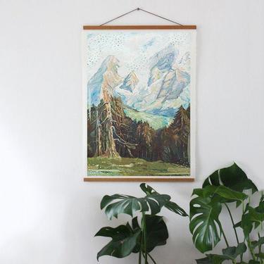 Landscape Art, Alaska Mountains, Kenai Peninsula, Seward, AK, Abstract Landscape, Simple Mountains, Hanging Art, Gift for Her by cedargrey