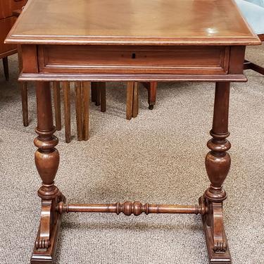 Item #DMC01 American Cross Banded Walnut Desk w/ Drawer c.1880