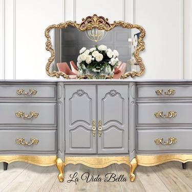 Fabulous French Provincial Console, Buffet, Sideboard, by LaVidaBellaDesign