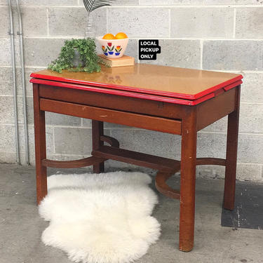 LOCAL PICKUP ONLY ———— Antique Enamel Dining Table by RetrospectVintage215