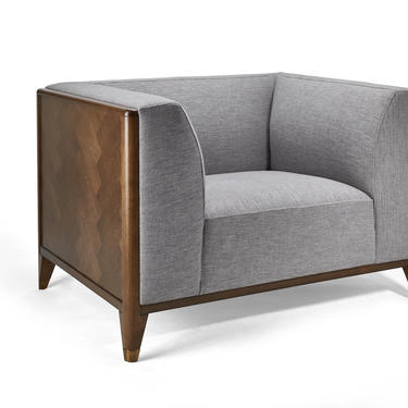 Walnut Mid Century Sofa 1 Seater / Chair, Wood frame sofa, Mid Century sofa  - Bella Collection - Ekais by Ekais
