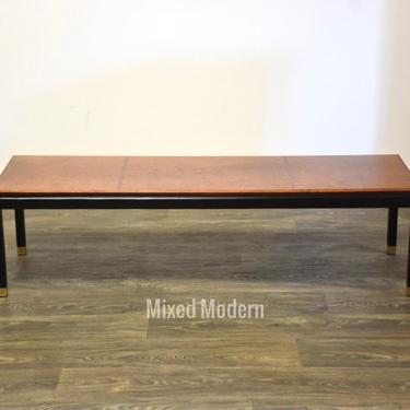 MCM Black & Brass Coffee Table by mixedmodern1