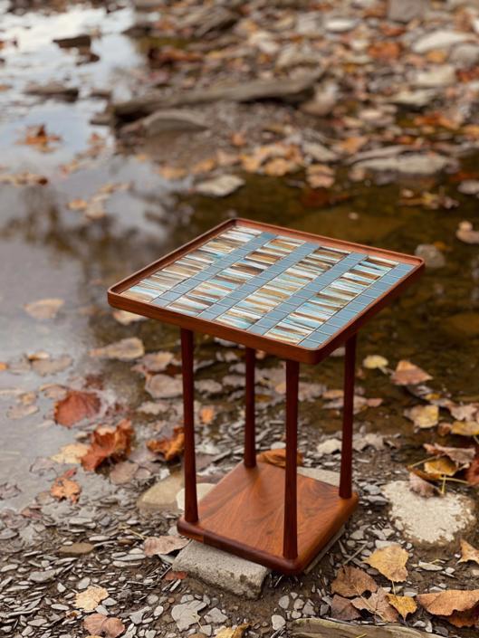Gordon & Jane Martz   Marshall Studios   Tiled Pedestal Table by MapleModern