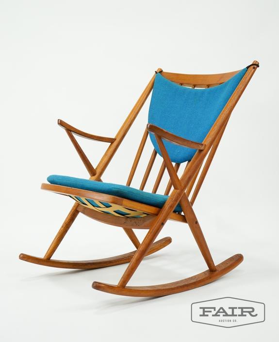 Frank Reenskaug for Bramin Teak Rocking Chair
