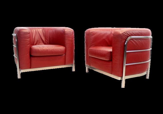 Rare Pair of Italian Modern Armchairs Designed by Lomazzi, de Pas, d'Urbino