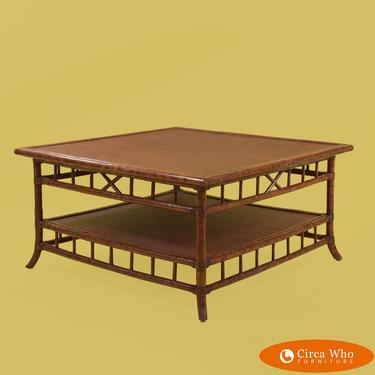 Burnt Bamboo Coffee Table