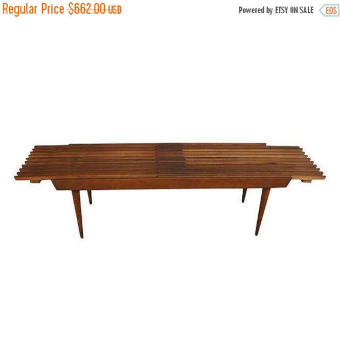 Prime 20 Off George Nelson Style Extendable Slat Bench Coffee Table By Metronomevintage Andrewgaddart Wooden Chair Designs For Living Room Andrewgaddartcom