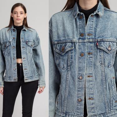 Vintage Levis Denim Jacket - Men's Small, Women's Medium | 80s Unisex Jean Trucker Jacket by FlyingAppleVintage