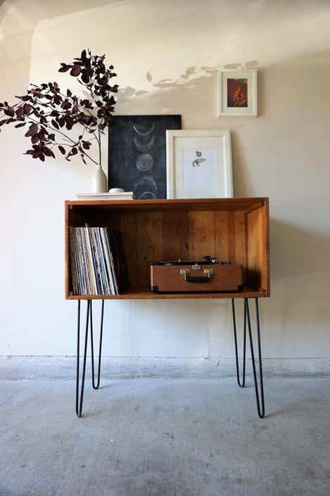 Hairpin Legged Record Cabinet