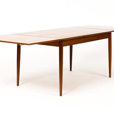 Danish Modern / Mid Century Teak Dining Table — Rectangular Draw Leaf — Bornholm Mobelfabrik by atomicthreshold