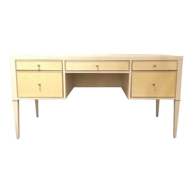 Modern Caracole White and Cream Writing Desk