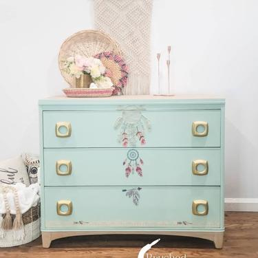 Boho inspired MCM dresser. by BrushedbymaddieArt