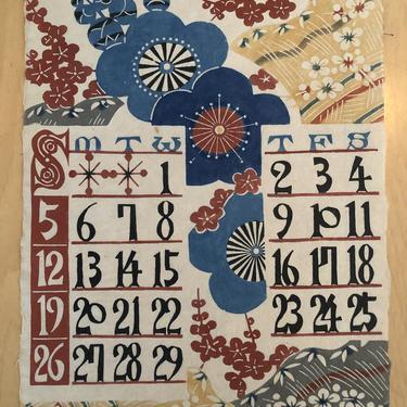 Mid Century Japanese Calendar Art