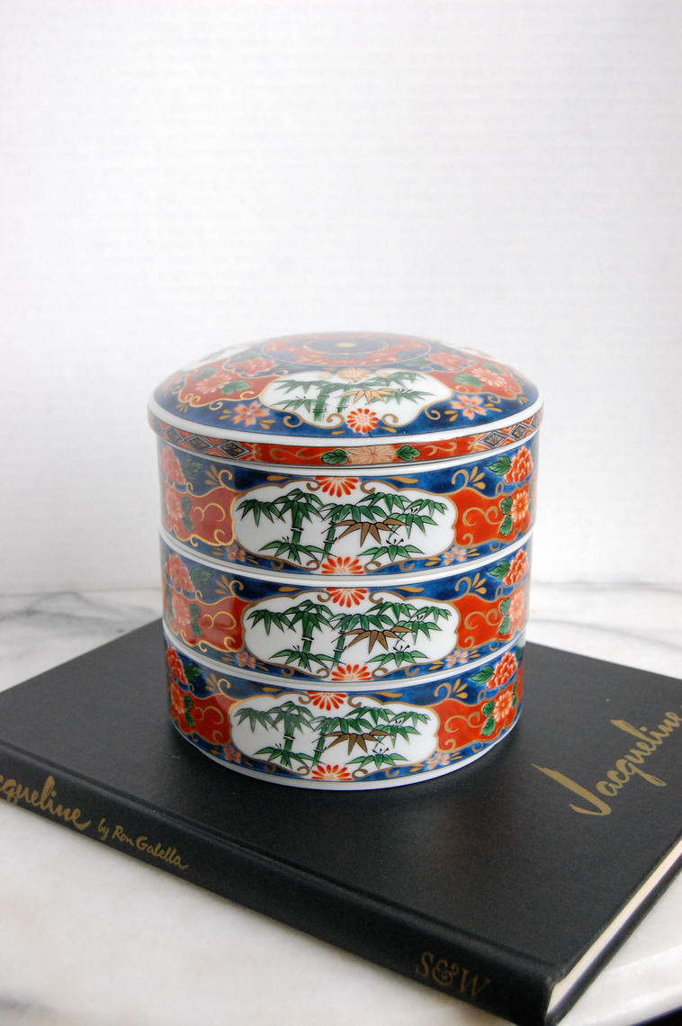 Porcelain Chinese Stacking Boxes Stackable Porcelain Box