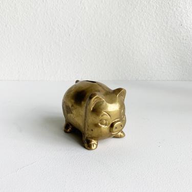 Vintage Brass Piggy Bank