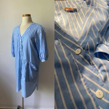 Striped 3/4 Puff Sleeve Dress by DiscoLaundryVintage