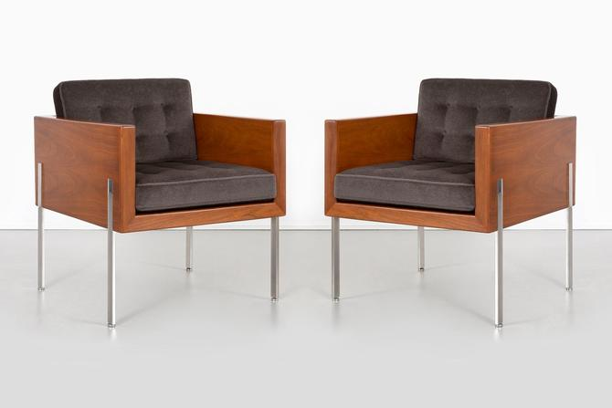 Pair of Mid-Century Modern Harvey Probber Architectural Series Cube Chairs by MatthewRachman