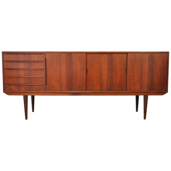 Erling Torvits Model 26 Teak Credenza Danish Modern Bar Cabinet by SelectModernDesign