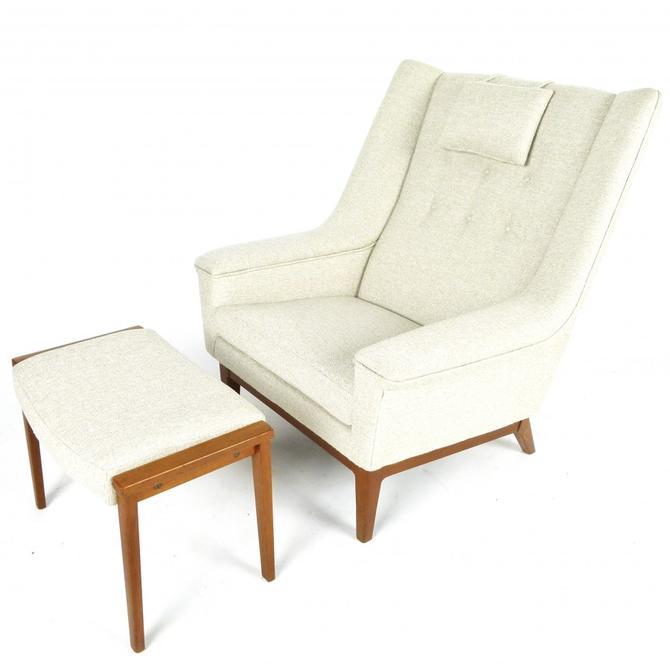 Swedish Lounge Chair With Ottoman
