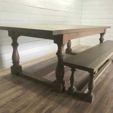 Modern Turned Leg Dining Table by HickoryandHaze