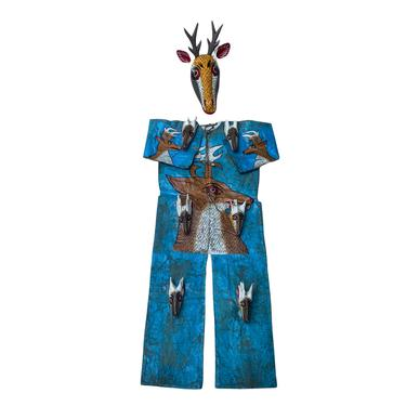 Mid-Century Mexican Ceremonial Costume with Deer Mask by FunkyRelic