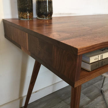 Mid Century Desk Open Without Drawers by jeremiahcollection
