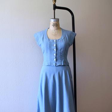 1940s 1950s sportswear set . vintage 40s 50s dress by BlueFennel