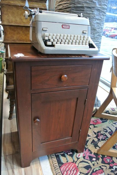 Pine cabinet / nightstand. $195