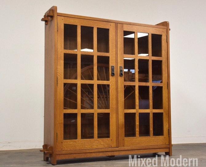 L & JG Stickley Oak Bookcase by mixedmodern1