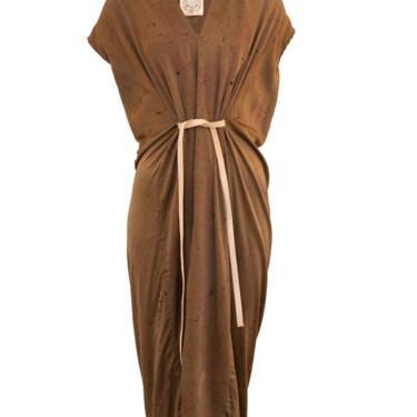 Knot Dress, Silk Charmeuse in Badlands Bundle Dye