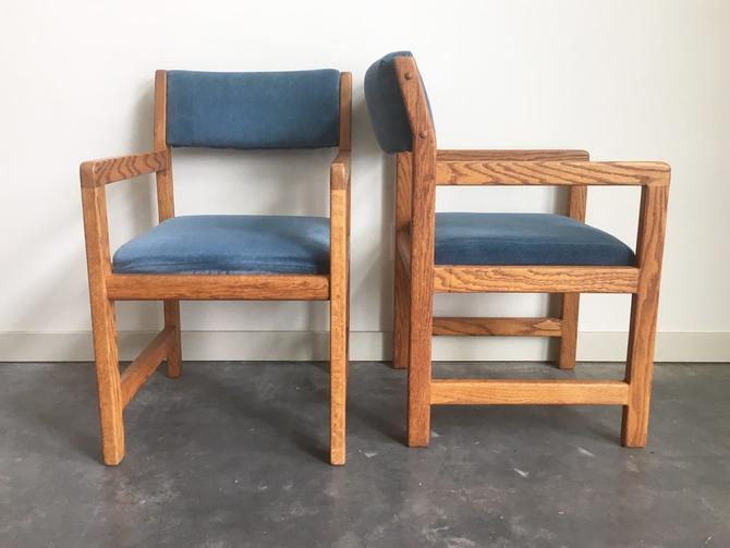 Pleasing Pair Of Vintage Mid Century Modern Cube Chairs From Machost Co Dining Chair Design Ideas Machostcouk