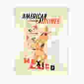 E. McKnight Kauffer Mexico | American Airlines Travel Poster Custom Framed