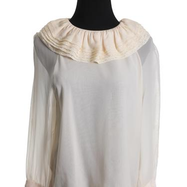 Chanel Cream Silk Blouse