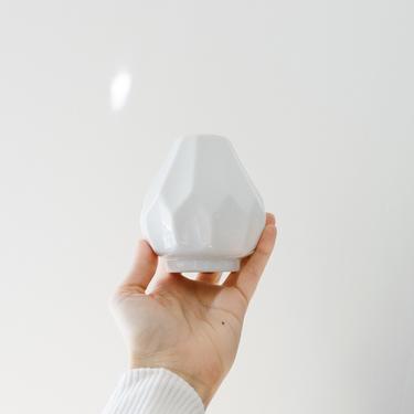 Modernist Mini Glazed White Porcelain Vase // Gerold West Germany // Tiny Vase by GlitteryMoonVintage