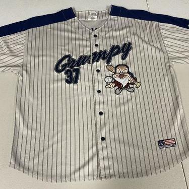 Vtg Walt Disney World Grumpy Baseball Style Jersey #37 XL
