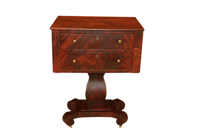 American Empire Style Side Table by Marykaysfurniture