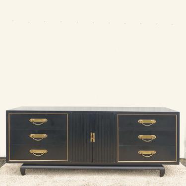 Mid CenturyEbonized Lowboy Dresser
