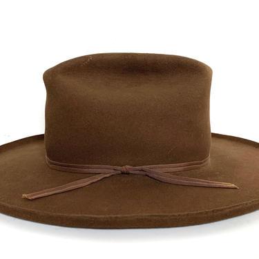 Vintage RESISTOL Western Hat ~ size  7 1/8 ~ Cowboy ~ Pencil Curl ~ Fur Felt Fedora ~ 3X Beaver ~ Wide Brim by SparrowsAndWolves