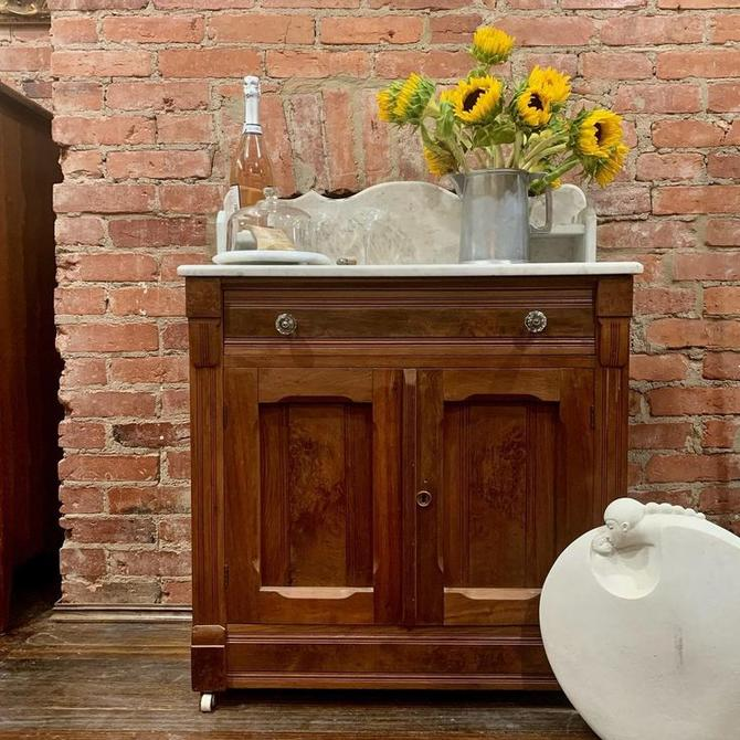 Antique, marble top wash stand