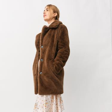CAROLL Oversized Faux Fur Coat