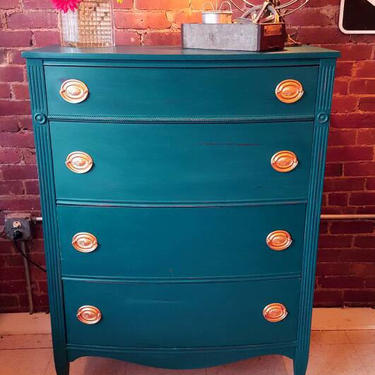 Tall Duncan Phyph Style Dresser for, Bedroom, Bathroom, Diningroom, Chest of Drawers, Painted Dresser, Chalk Paint Furniture Bohemian Decor by JazzySellers