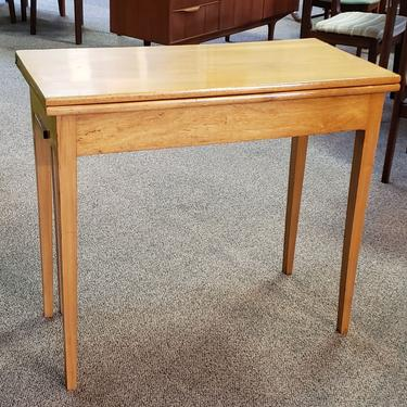 Item #DMC6 American Ash Flip Top Console / Games Table w/ Drink Holders 19th c.